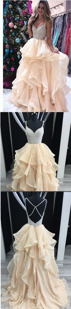 Sparkly Pretty Most Popular Prom Dresses, 2018 prom dress, Party Gowns, Evening dress, PD0654 #promdresses #sposabridal