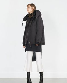 ZARA - WOMAN - GOLDEN DETAILS QUILTED COAT
