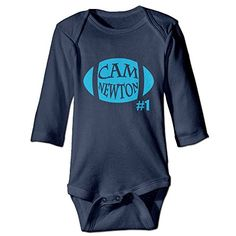 ElishaJ Carolina 1 Football Player Babys Long Sleeve Jumpsuit Outfits Navy Size 12 Months *** Read more reviews of the product by visiting the link on the image.