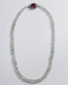 "Natural Aquamarine Ruby 19"" Necklace"