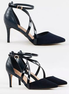 A classic cross strap court shoe, with contrasting textures to bring a contemporary twist. Navy Blue court shoes for Mother of the Bride. Mother of the Bride shoes for a Navy Dress. Navy Mother of the Bride outfits. Shoes to wear with a Navy Blue formal outfit. Navy Blue outfit ideas for the Races. S|hoes to wear with Navy Blue Ascot Hat. #motherofthebride #shoes #shoeaddict #fashion #weddingoutfits Blue Court Shoes, Navy Blue Shoes, Shoes For Wedding Guest, Mother Of The Bride Shoes, Royal Ascot Hats, Winter Fashion Outfits, Navy Dress, Outfit Ideas, Contemporary