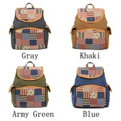 How nice Western style US Flag Retro Stripe Canvas School Bag Backpack ! I like it ! I want to get it ASAP!