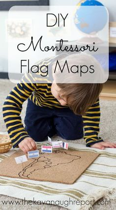 DIY Montessori Flag Pin Map a fun way to explore culture and geography for preschoolers. Perfect for homeschool or other classroom.