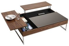 Coffee table with clever storage solution
