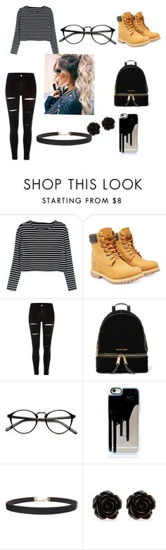 """Untitled #115"" by nasteexomohamud on Polyvore featuring Timberland, River Island, MICHAEL Michael Kors, Humble Chic and Erica Lyons"