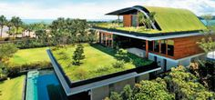 30 Incredible Green Roof Designs Beautiful Roof Garden Design Ideas 20 Amazing Homes with Grass Roof Designs Green Roof Garden Design Roof Architecture, Sustainable Architecture, Contemporary Architecture, Residential Architecture, Contemporary Design, Sky Garden, Home And Garden, Shed Roof Design, Roofing Options