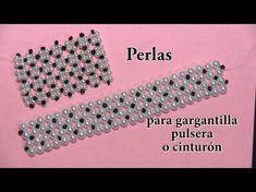 # DIY - Pulsera triple parte # DIY - Triple Bracelet part Beaded Bracelet Patterns, Beading Patterns, Beaded Bracelets, Bead Jewellery, Jewelry Making Beads, Diy Jewelry Instructions, Diy Schmuck, Diy Necklace, Diy Bracelet