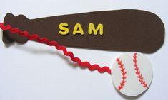 Sam's baseball bookmark from activityvillage.co.uk