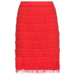 Givenchy Ruched Tulle Skirt (127.075 RUB) ❤ liked on Polyvore featuring skirts, red, ruched skirts, gathered skirt, knee length tulle skirt, shirred skirts and red tulle skirt