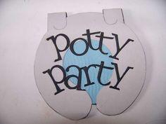 Card: Potty party invitation