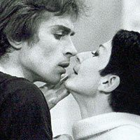 Nureyev dancing The Young Man and Death - 1966 - with Zizi Jeanmaire - Photo : Jurgen-Vollmer