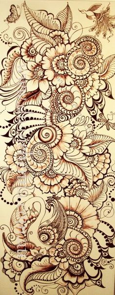 Love the brown (henna) tangle... I have my new brown set & can't wait to create henna magic!:
