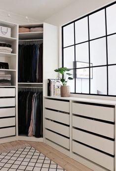 66 Super Ideas For House Decor Ikea Closet System Walk In Closet Ikea, Walk In Closet Design, Closet Designs, Master Closet, Closet Bedroom, Closet Space, Home Bedroom, Corner Closet, Small Walk In Wardrobe