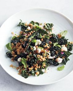 Kale and Farro Salad with Feta Recipe