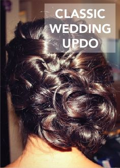 This classic wedding updo is the perfect bridal hairstyle to pair with your dream wedding dress and vintage wedding accessories. Plus, this hair tutorial will make it easy to achieve your timeless wedding look.
