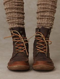 Menswear boots with socks