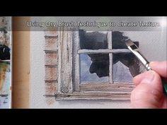 Dry Brush Tutorial for creating Texture in Watercolor. Easy to follow for beginners. Peter Sheeler - YouTube