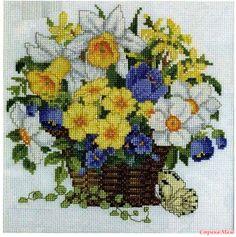 Цветочные вышивки крестиком