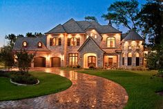 Walkway tilesFrench Country House Exteriors | French Country Home - traditional - exterior - houston - by By Design ...