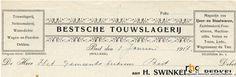 H. Swinkels-van Berkel. Bestsche Touwslagerij. IJzer- en staalwaren, zadelmakerij, fournituren etc - 1917