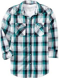 Men's Plaid Western Shirts