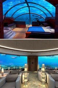 Poseidon Undersea Resort, located in Fiji. - - - -    10 Coolest Underwater Attractions.