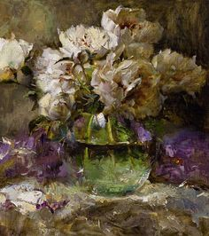 peonies. The artworks. Trofimov Oleg . Artists. Paintings, art gallery, russian art