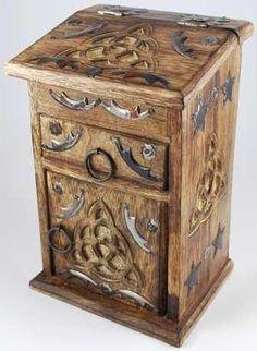 cool Polish Handmade Celtic Wood Chest Secret Lock Puzzle Box Celtic