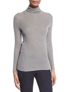 Remmi Long-Sleeve Turtleneck Sweater, Women's, Size: X-LARGE/16-18, Black - Elie Tahari