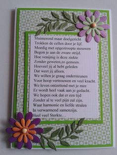 Sterktekaart met mooi gedicht. Poems, Frame, Quotes, Cards, Poem, Map, Playing Cards, Quote, Maps