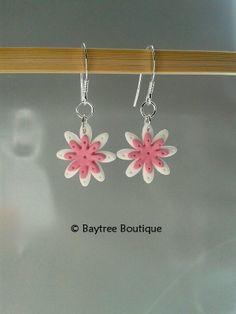 Polymer clay layered daisy earrings £14.00