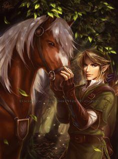 Link and Epona by TixieLix.deviantart.com on @DeviantArt