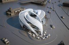 Futuristic Architecture, Firestone Boulevard office building B+U Architects, via LA Times