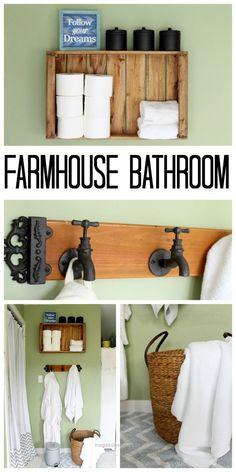 Insane Rustic farmhouse bathroom ideas – perfect way to decorate your farmhouse bathroom on a budget!  The post  Rustic farmhouse bathroom ideas – perfect way to decorate your farmhouse bathro ..