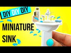 How to make a REALISTIC MINIATURE SINK | Dollhouse DIY - YouTube