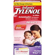 Infants' Tylenol Oral Suspension Grape - 1 Ounce