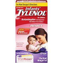 Infants' Tylenol Oral Suspension Grape - 1 Ounce