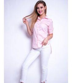 Ružová dámska košeľa Street Look Street Look, White Jeans, Pants, Fashion, Trouser Pants, Moda, Fashion Styles, Women's Pants, Women Pants