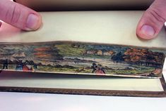Fore-edge paintings: This painting is from an 1837 four-volume series on the seasons by Scottish author Robert Mudie.