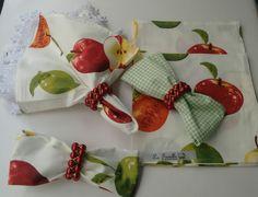 Guardanapo tricoline maçãs lá Favelle Siga nossa página e compre via pag seguro direto de quem fabrica.