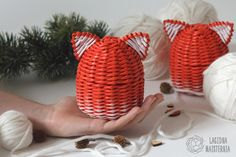 This is cute minimalistic fox box in Scandinavian style. This wicker paper box with lid will be an excellent gift for fox lover or animal lover girl. It can be used as jewelry storage, candy box or other small stuff storage. http://etsy.me/2j0BMcp