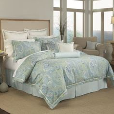 Possibility for master bedroom...Raymond Waites® Rhapsody Duvet Cover, 100% Cotton - BedBathandBeyond.com