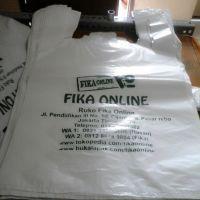 Fika Tas plastik / Kantong Kresek 24x40 cm Sablon