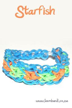 Starfish loom band bracelet