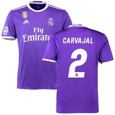 6586ef3f6 Carvajal Real Madrid adidas 2016 17 Away World Cup Champions Patch Replica  Jersey Sergio Ramos
