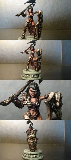 Miniatures 166803: Female Antipaladin Miniature Showcase Painted Dandd Pathfinder -> BUY IT NOW ONLY: $49.99 on eBay!