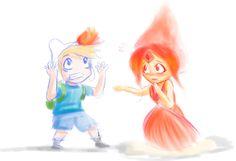 Finn and Flame Princess by PassMeTheBamboo on DeviantArt