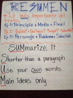 point of view spanish anchor charts pinterest spanish