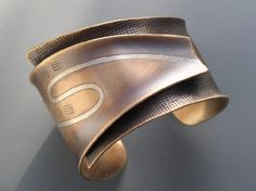 """""""Reduce"""" Bronze & Sterling Silver Cuff by B Nelson Designs"""