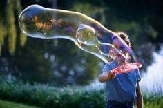Giochi per bambini: Bolle di sapone fatte in casa